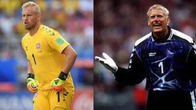 Las grandiosas coincidencias entre Peter y Kasper Schmeichel en Mundiales