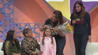De reina a reina: Clarissa Molina coronó a niña 'Reina de la valentía' por su inspiradora historia