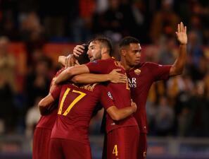 En fotos: Roma se metió en la pelea de la Champions League con paliza cómoda en casa