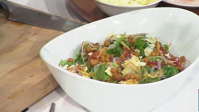 La receta: ensalada con prosciutto y garbanzo