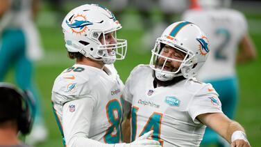 Ryan Fitzpatrick entró para rescatar a los Miami Dolphins