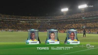 Alineaciones confirmadas de Tigres y Santos Laguna para la Semifinal en el Volcán