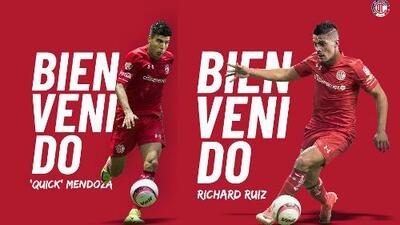 Toluca contrata al 'Quick' Mendoza y a Richard Ruiz