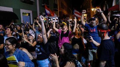 En un minuto: Euforia en las calles de Puerto Rico tras la renuncia de Rosselló como gobernador