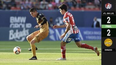 Dorados rescata empate ante el superlíder San Luis y ambos pelearán por el ascenso a la Primera División
