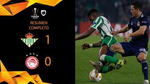 Real Betis 1-0 Olympiacos - GOL Y RESUMEN - Grupo F - UEFA Europa League