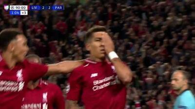 ¡GOOOL! Roberto Firmino anota para Liverpool