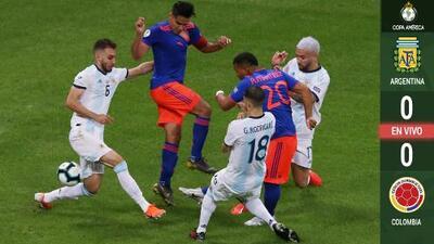 Colombia, mejor que Argentina con media hora jugada en Bahía