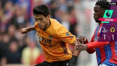 Wolves de Jiménez rescata punto de infarto ante Crystal Palace