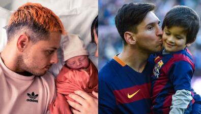 Grandes estrellas del fútbol mundial con sus hijos: el club al que se unió 'Chicharito'