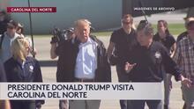 Donald Trump llega a Carolina del Norte para mitin político