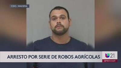 Arrestan a hombre vinculado al robo de equipos agrícolas en Madera