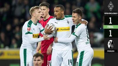 Borussia Mönchengladbach 1-1 Friburgo - GOLES Y RESUMEN - Jornada 26 - Bundesliga