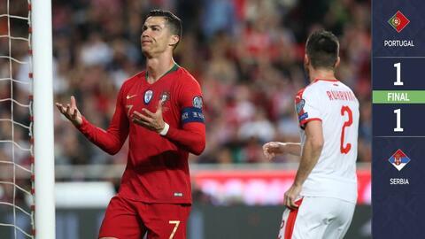 Portugal 1-1 Serbia - GOLES Y RESUMEN - GRUPO B - ELIMINATORIAS – Eurocopa