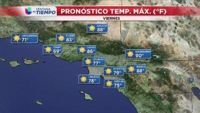 Un viernes mayormente soleado y de condiciones cálidas le espera a Los Ángeles