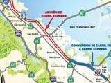 Arranca proyecto para expandir los carriles exprés sobre la autopista 101 en la Península