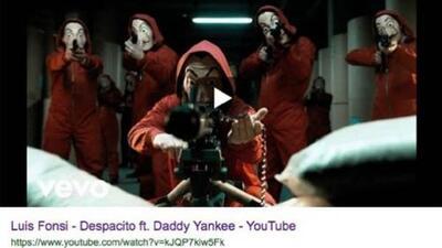 Hackean el video de 'Despacito' y colocan una imagen de encapuchados con armas