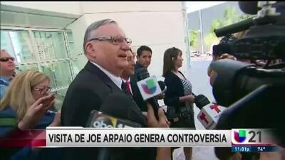 Visita de Joe Arpaio genera controversia