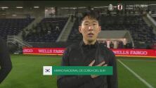 Son se roba los reflectores en un emotivo himno de Corea del Sur