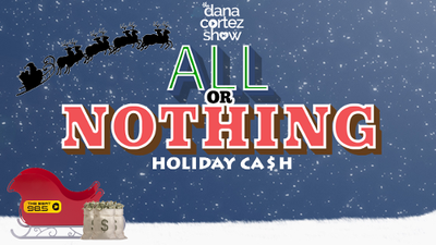 Tune in to The Beat to Play Dana's All or Nothing Holiday Cash weekday mornings