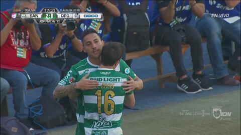 Santos Laguna venció 2-1 a Querétaro con estos goles