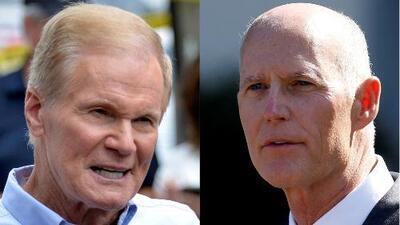 A pocas horas de las elecciones, Rick Scott y Bill Nelson buscan votos de última hora