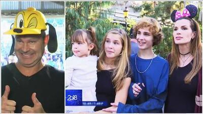 La familia Tacher visitó Disneyland y Alan dejó salir el niño que lleva dentro