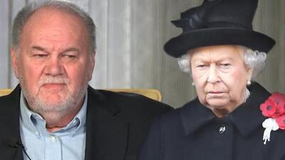 Desesperado, el padre de Meghan Markle le ruega a la reina Isabel que le ayude a acercarse a su hija