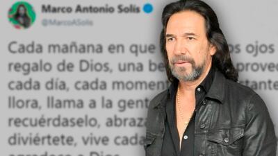 Tras el trágico accidente que sufrió su staff, Marco Antonio Solís envía mensaje de reflexión