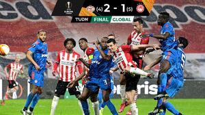 ¡De último minuto! Olympiakos eliminó al PSV Eindhoven de Guti