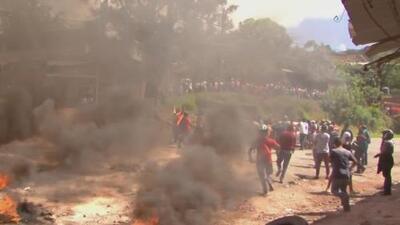 Manifestación en contra de un proyecto habitacional en Honduras termina en enfrentamientos