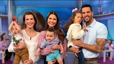En Fotos: Los bebés de Ana Patricia, Alan y el Chef Yisus llenaron de risas y diversión el set de Despierta América