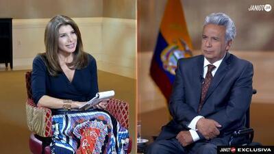En exclusiva: El presidente de Ecuador Lenín Moreno habla con Patricia Janiot sobre el arresto de Assange