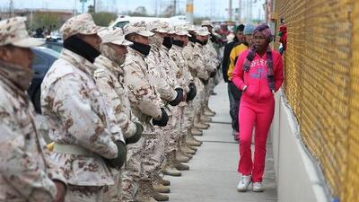 Motines en Piedras Negras, mientras México y EEUU refuerzan seguridad en la frontera