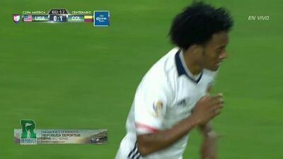 Uyy!! Casi gol. Juan Guillermo Cuadrado Bello patea y da en el arco