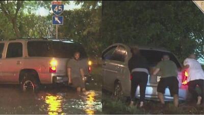 Emergencias e inundaciones en distintas áreas de Houston por fuertes tormentas
