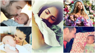 Del vientre a la cámara: estas fueron las primeras fotos de estos bebés famosos