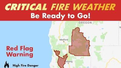 Emiten alerta por riesgo de incendios forestales en el norte de California