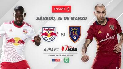 No te pierdas la acción entre NY Red Bulls y Real Salt Lake por UniMás y Facebook Live