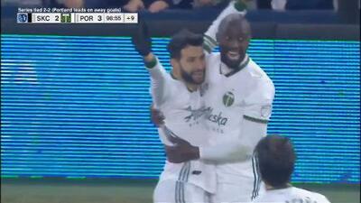 Diego Valeri da el 'tiro de gracia' a Sporting KC y Portland avanza a la gran final de la MLS Cup