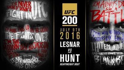 Brock Lesnar contra Mark Hunt será la pelea estelar de UFC 200