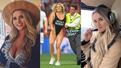 EN FOTOS: ¿Quién es la mujer que apareció en bikini en la final de la Champions?