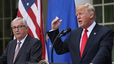EEUU y la Unión Europea ponen freno a la guerra comercial y acuerdan trabajar para eliminar aranceles