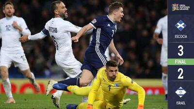 Escocia derrota a Israel y asciende a la Liga B en la Nations League