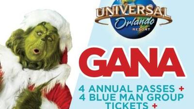 Gana 4 pases anuales a Universal