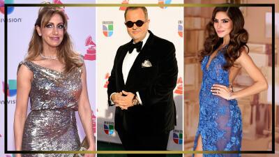 En fotos: el paso del talento de Univision por la alfombra de Latin GRAMMY