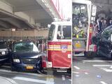 Diez personas resultan heridas después que camión de bomberos chocara en Brooklyn