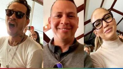 """El video en el que A-Rod se sienta en medio de JLo y Marc Anthony y por el que Don Tela le llama """"pajuelona feliz"""""""