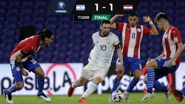 El VAR quita gol a Messi y Argentina empata con Paraguay