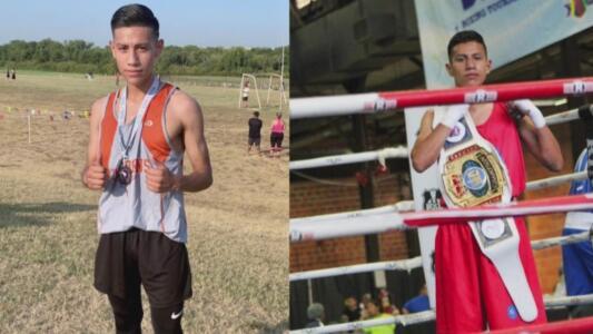 Este joven atleta hispano no solo se destaca en esa disciplina: el boxeo también es su pasión